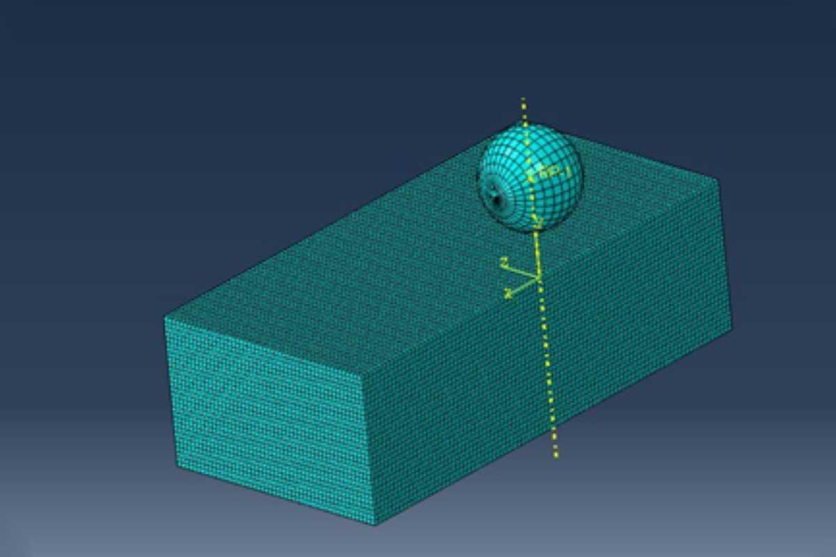 آموزش مدلسازی برخورد پرتابه به صفحه فولادی در نرم افزار آباکوس